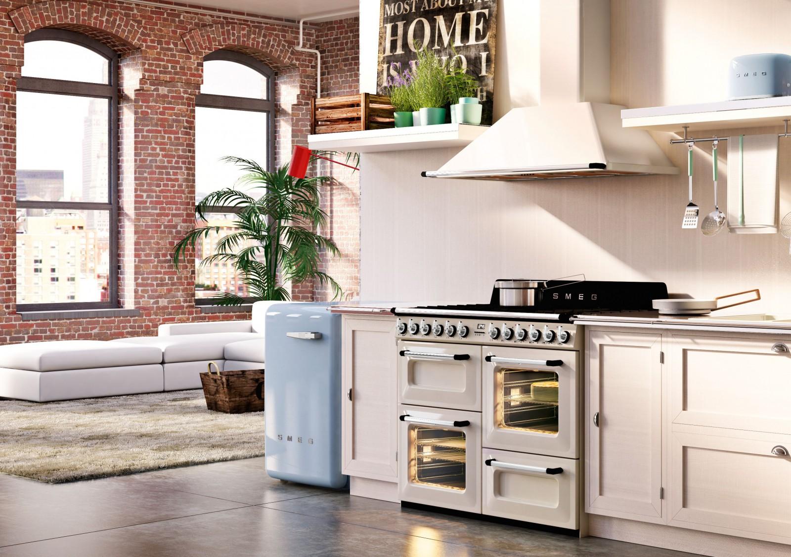 Cuisines fourneaux cuisine quip e lectrom nager - Piano cuisine smeg ...